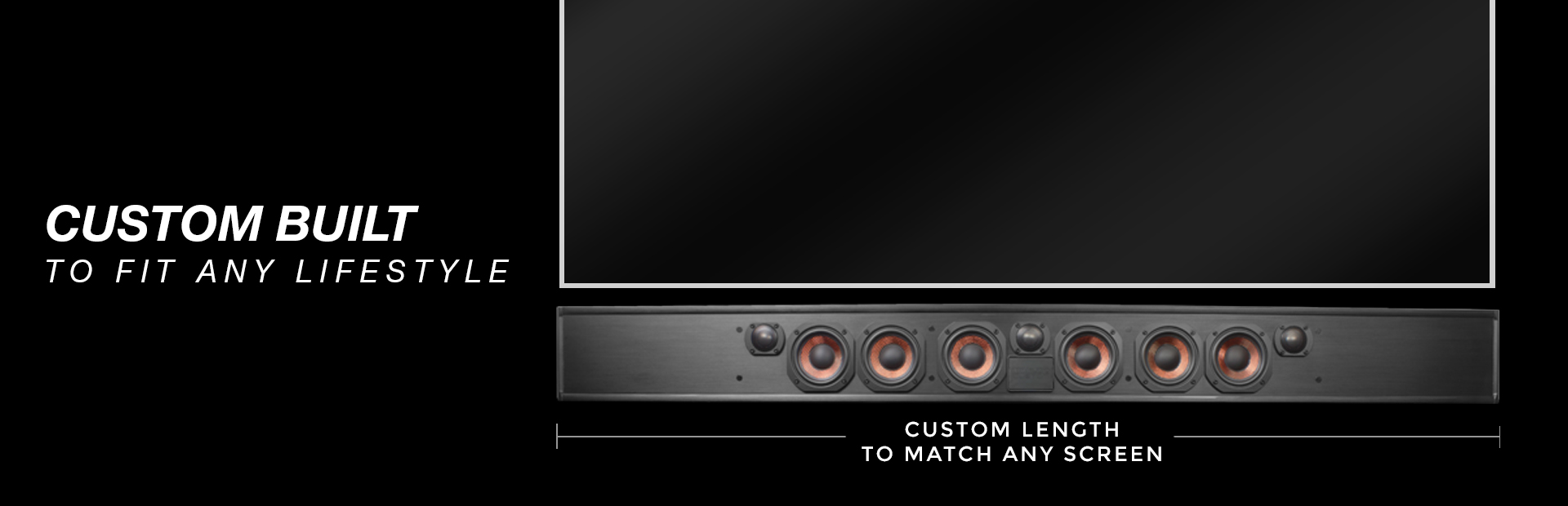 Custom built to fit any TV