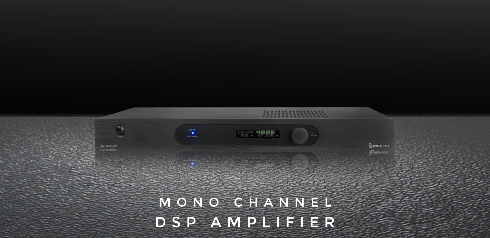 TRU-S500DSP DSP mono channel amp by TruAudio