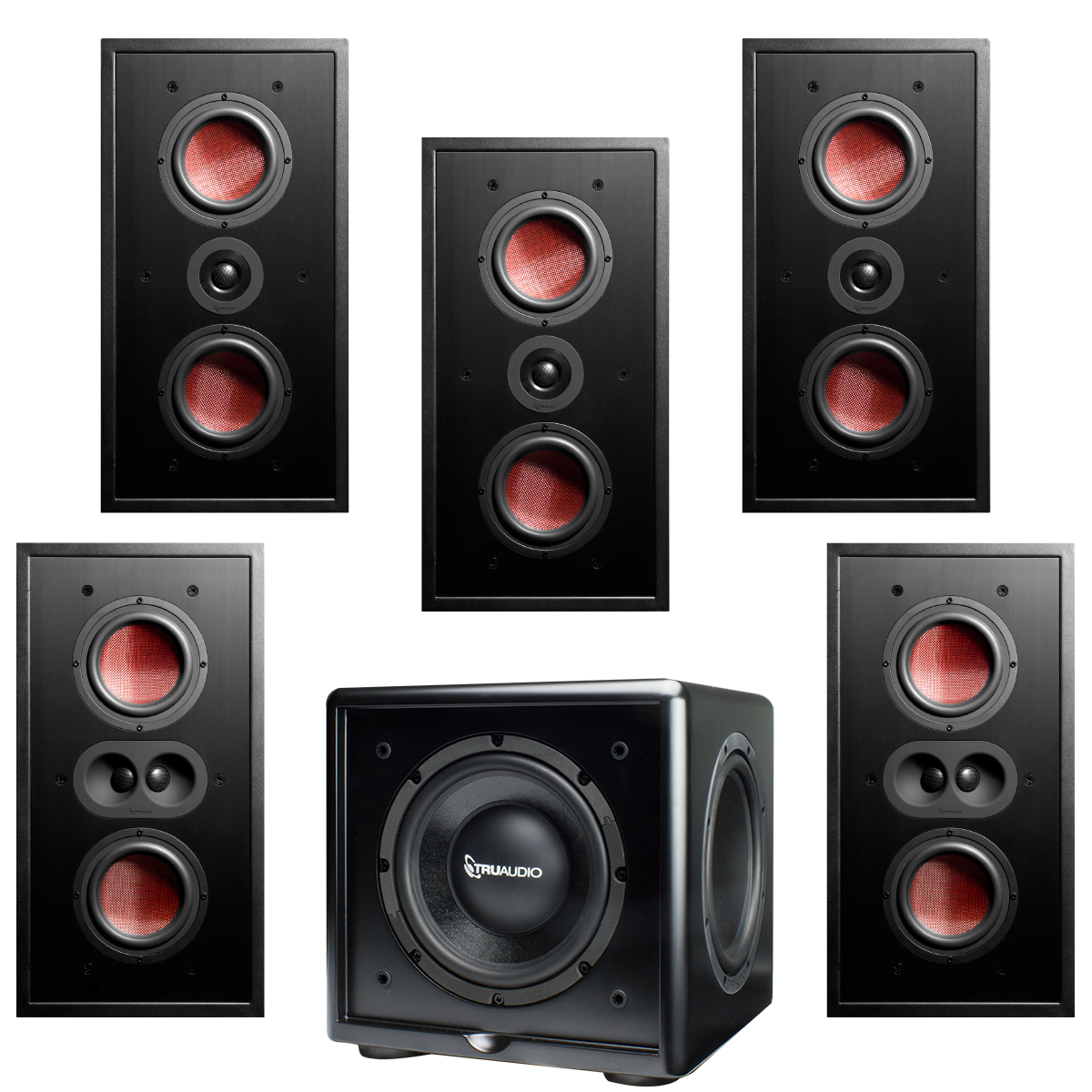 Best In Wall Home Theater Speakers b23-5.1-csub