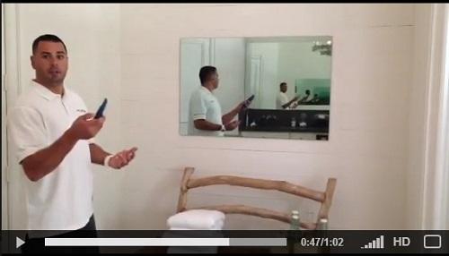 TruAudio Dealer Petrone Ghost In-Ceiling Speakers Mirror TV